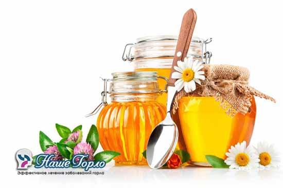 Применение меда при ангине