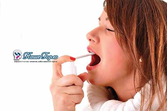 Применение антисептических спреев