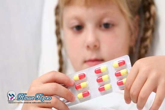 Лечение ангины антибиотиками у ребенка